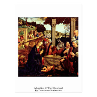 Adoration Of The Shepherd By Domenico Ghirlandaio Postcard