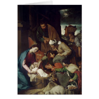 Adoration of the Shepherds, 1630 Card