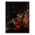 Adoration of the Shepherds by Caravaggio (1609) Postcard