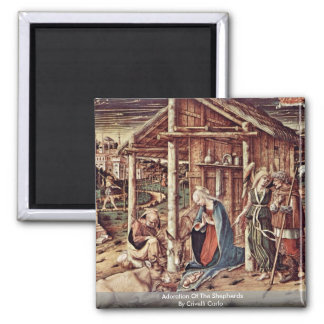 Adoration Of The Shepherds By Crivelli Carlo Magnet