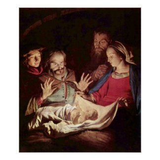 Adoration of the Shepherds by Gerard van Honthorst Poster