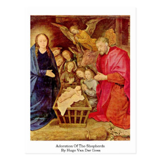 Adoration Of The Shepherds By Hugo Van Der Goes Postcard