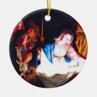Adoration of the Shepherds Ceramic Ornament