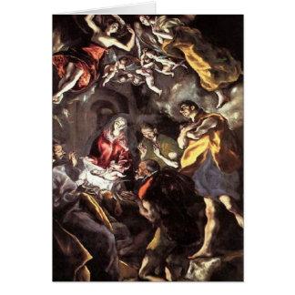 Adoration of the Shepherds - El Greco Card