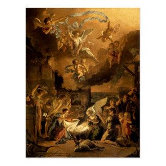 Adoration of the Shepherds Fine Art Christmas Postcard