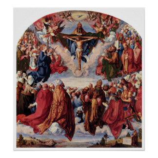Adoration of the Trinity by Albrecht Durer, 1511 Poster