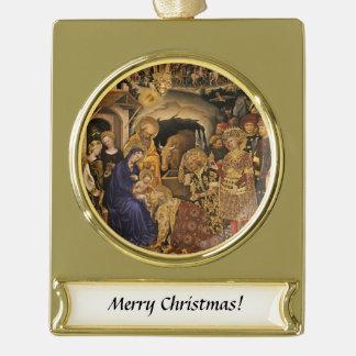 Adorazione Dei Magi Gold Plated Banner Ornament