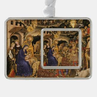 Adorazione Dei Magi Silver Plated Framed Ornament
