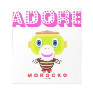 Adore -Cute Monkey-Morocko Notepad