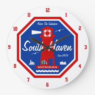 Adore The Lakeshore - South Haven, MI Large Clock