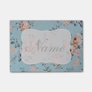 "Adoring Flowers - Post-it® Notes 4"" x 3"" Wedding"