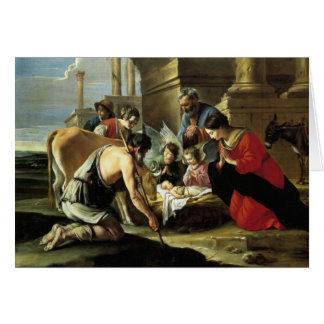 Adoring Shepherds 17th Century Card