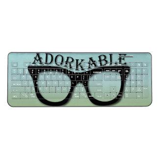 Adorkable Geek Nerd Glasses Wireless Keyboard