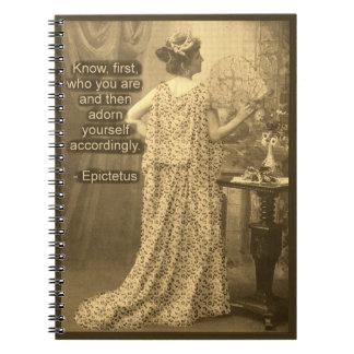 Adorn Yourself Accordingly  - Vintage Photograph Spiral Notebook
