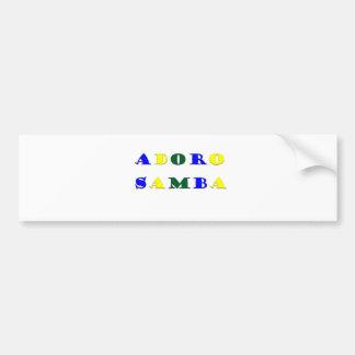 Adoro Samba Bumper Sticker