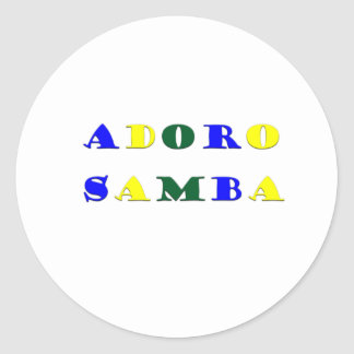 Adoro Samba Round Sticker