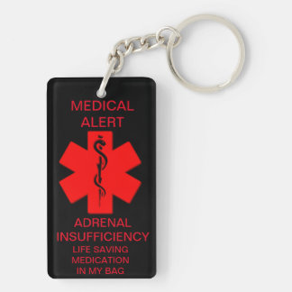 ADRENAL insufficiency keychain