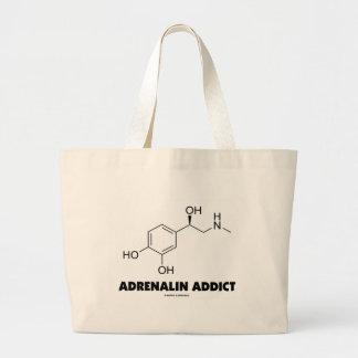 Adrenalin Addict (Adrenaline Epinephrine Molecule) Tote Bags