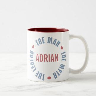 Adrian Man Myth Legend Customizable Two-Tone Coffee Mug