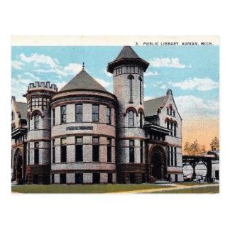 Adrian, Michigan, Carnegie Library, Vintage Postcard
