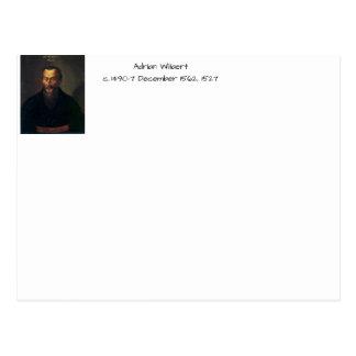 Adrian willaert postcard