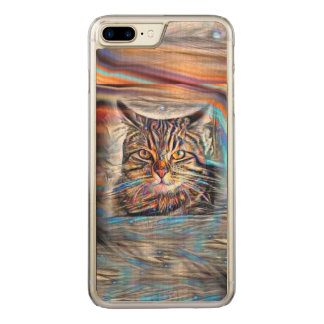 Adrift in Colors Abstract Revolution Cat Carved iPhone 8 Plus/7 Plus Case