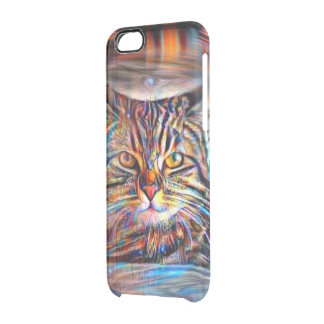Adrift in Colors Abstract Revolution Cat Clear iPhone 6/6S Case