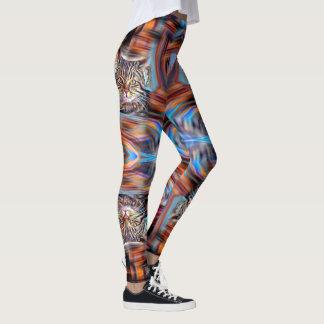 Adrift in Colors Abstract Revolution Cat Leggings