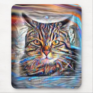 Adrift in Colors Abstract Revolution Cat Mouse Pad