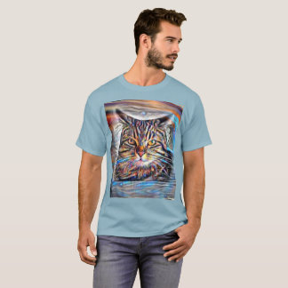 Adrift in Colors Abstract Revolution Cat T-Shirt
