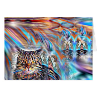Adrift in Colors Tropical Sunset Cat Card