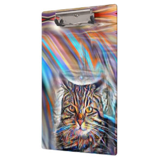 Adrift in Colors Tropical Sunset Cat Clipboard
