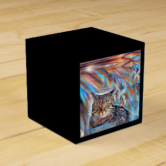 Adrift in Colors Tropical Sunset Cat Favour Box