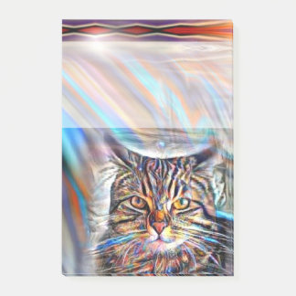 Adrift in Colors Tropical Sunset Cat Post-it Notes