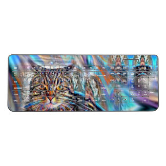Adrift in Colors Tropical Sunset Cat Wireless Keyboard