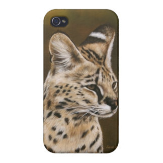 Adult African Serval IPod case Cases For iPhone 4