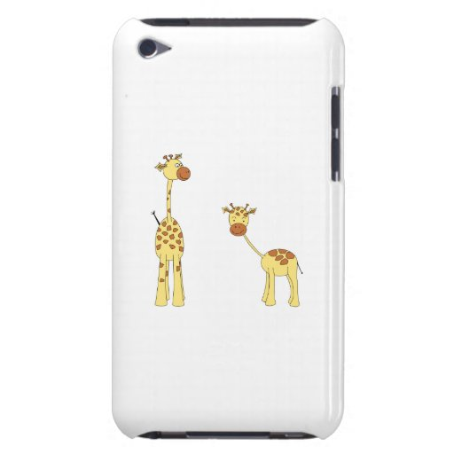 Adult and Baby Giraffe. Cartoon iPod Touch Covers