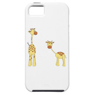 Adult and Baby Giraffe Cartoon iPhone 5 Cases