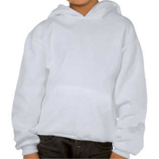Adult and Baby Giraffe. Cartoon Hooded Pullover