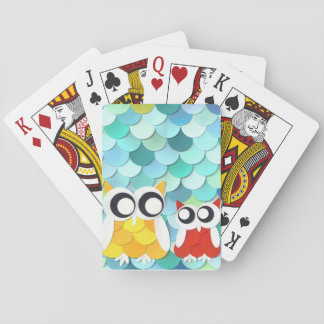 Adult and Little Owl Poker Deck