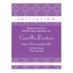 ADULT BIRTHDAY INVITATION :: ornately patterned L1