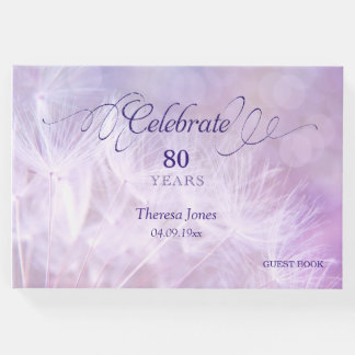 Adult Birthday Party Guest Book for Any Age