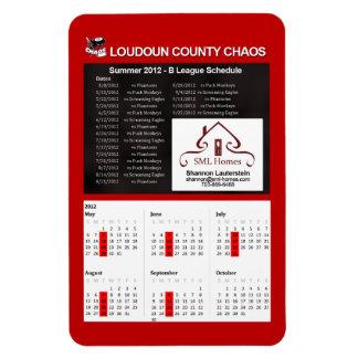 Adult Chaos - Summer 2012 B League Schedule Magnet
