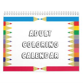 Adult Coloring Calendar