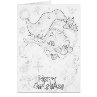 Adult Coloring Christmas Card