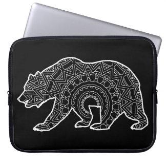 Adult Colouring Book Art | Mandala Bear Laptop Sleeve