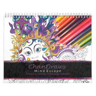 Adult colouring calendar