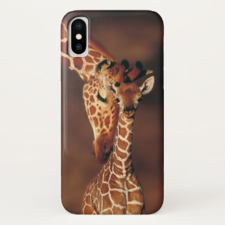 Adult Giraffe with calf (Giraffa camelopardalis) iPhone X Case