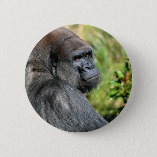 Adult Gorilla 6 Cm Round Badge
