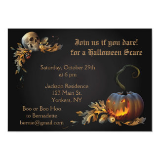 Adult Halloween Party Card